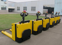 Algeria agent visited China Sinolift electric powered pallet truck factory