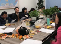 Sinolift held New Year's tea party in 2020